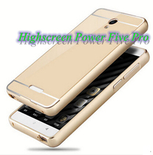 for Highscreen Power Five Pro Color Alunminum Metal Frame Rim + Plastic Back Board Bounding Box Cover Shell Case Free Shipping