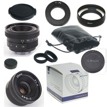 NEW Camera  25mm f/1.4 mirroless for APS-C for Pentax Q Samsung NX Camera+C-PQ adapter+Lens Hood+Macro Ring*2+P/Q lens rear cap
