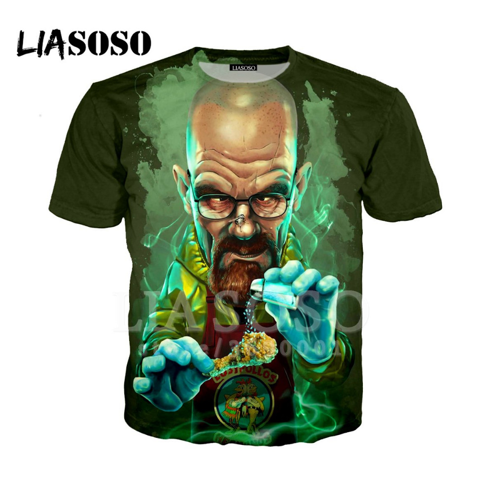 BREAKING BAD HEISENBERG FACE ILLUSTRATION  WALTER  WHITE MEN/'S LADIES T-SHIRTS
