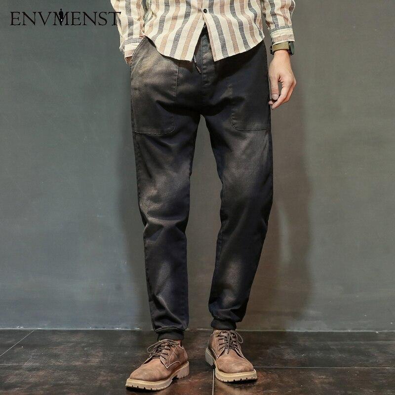 2017 Brand Envmenst Mens Skinny jeans slim male jeans denim Biker jeans hiphop Retro pants gradient color jeans for man Одежда и ак�е��уары<br><br><br>Aliexpress