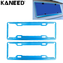 KANEED Car License Plate Frame Car Styling Aluminum Alloy Universal License Plate Holder Car Accessories(China)