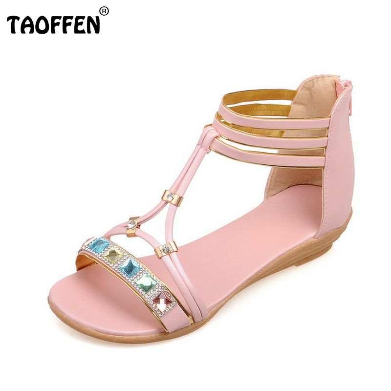 Women Flats Sandals Rhinestone Shoes Women Flat Ankle Strap Sandal Flip Flop Shoes Lady Casual Shoes Footwear Size 35-39 PA00265<br><br>Aliexpress