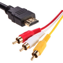1.5M 1080P HDMI to 3 RCA Cable HDMI to AV Male Adapter Audio Video Cable for DVD HDTV STB hdmi to 3RCA cable 1.5M