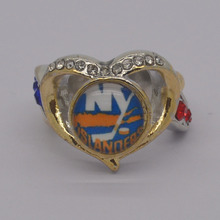 new york islanders championship rings solid ring drop shipping Championship Fan woman Ring logo customed(China)