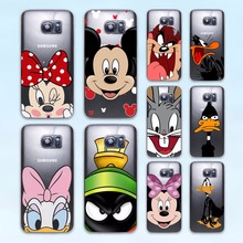 Bunny mickey mouse Bird Daffy Duck design hard transparent Case Cover for Samsung Galaxy S8 S6 S7 edge S5 S4 mini Phone Case