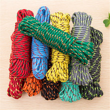 2017 New Design 10m Colorful Multifunction Nylon Washing Clothes Line Rope Clothesline String 10m Hangers & Racks HE49(China)