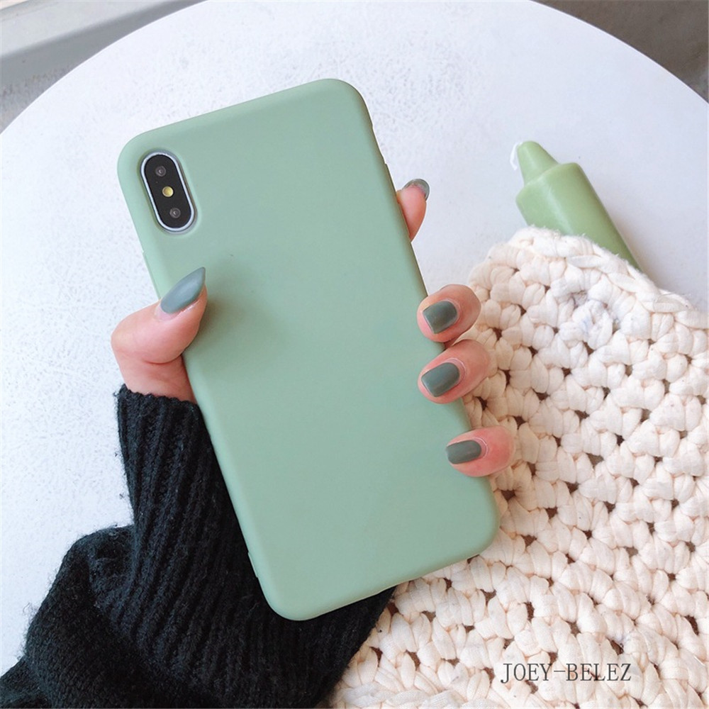 Matte Phone Cases For iPhone 7 Candy Case For iPhone X 7 6 6S 8 Plus 6 6S Case Cover XR XS MXA Coque Silicon Fundas Capa Carcasa22