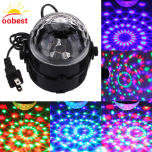 Voice Control RGB LED Stage Lamps Crystal Magic Ball Sound Control Laser Stage Effect Light Party Disco Club DJ Light projector