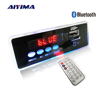 Aiyima 12V Blue LED MP3 Audio Decoder Board Lossless FLAC APE 4.2 Bluetooth Decoder Remote Control TF Card FM Radio