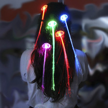 Light-Up Flashing Hair Braid LED Extension Rave Blinking Hairpin Decoration
