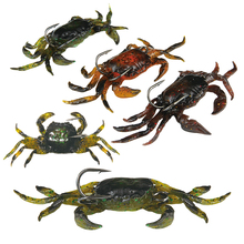 5pcs 10cm/3.94in 30g/1.06oz Soft Fishing Lures Artificial Bait Crab with Sharp Hooks, Jigging Lure Sea Creature Tackle Fake Bait(China)
