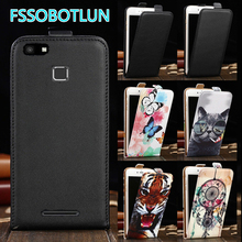 Factory direct!For Vernee Thor E TOP Quality Cartoon Painting vertical phone cover bag flip up and down PU Leather Case