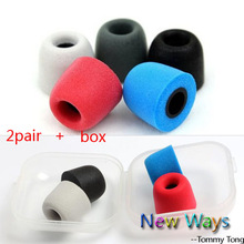 4pcs/2pair T100 T400 Memory Foam headphone Ear pads sponge Ear cups In-Ear Earphone Earbuds Headset Bud Tips eartips Earplug