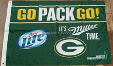 Green Bay Packers Flag Miller Beer Bar Tailgate Rodgers Rare 3x5ft(China)