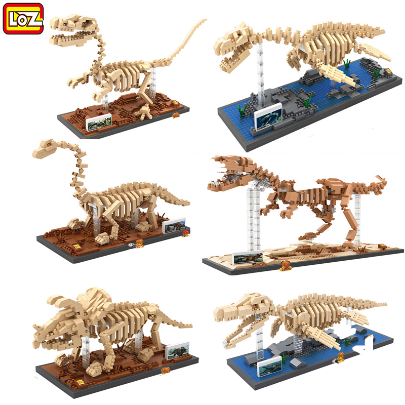 Hot sale new LOZ Diamond Building Blocks lot jurassic world DIY toy bricks huge Dinosaurs kids toys of children gift juguetes<br><br>Aliexpress