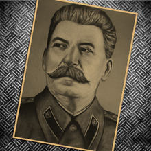 Vintage Stalin of the Soviet Union old Posters Simple Creative Kraft Paper Posters Classic Decorative Painting Art Paintings