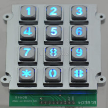 3x4 matrix 12 key light backlit keyboard vandal-proof keypads for doors ATM, lift,door lock,KIOSK IP65 corded lock keypad