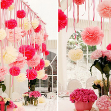 410cm Baby Shower Tiny Tissue paper pom poms artificial flowers balls Birthday Wedding decoration kids party supplies W040 - Evey Global co.,Ltd store