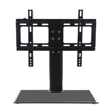 "26""-32"" Cantilever Black Glass TV Stand with Bracket for LCD LED Stand"