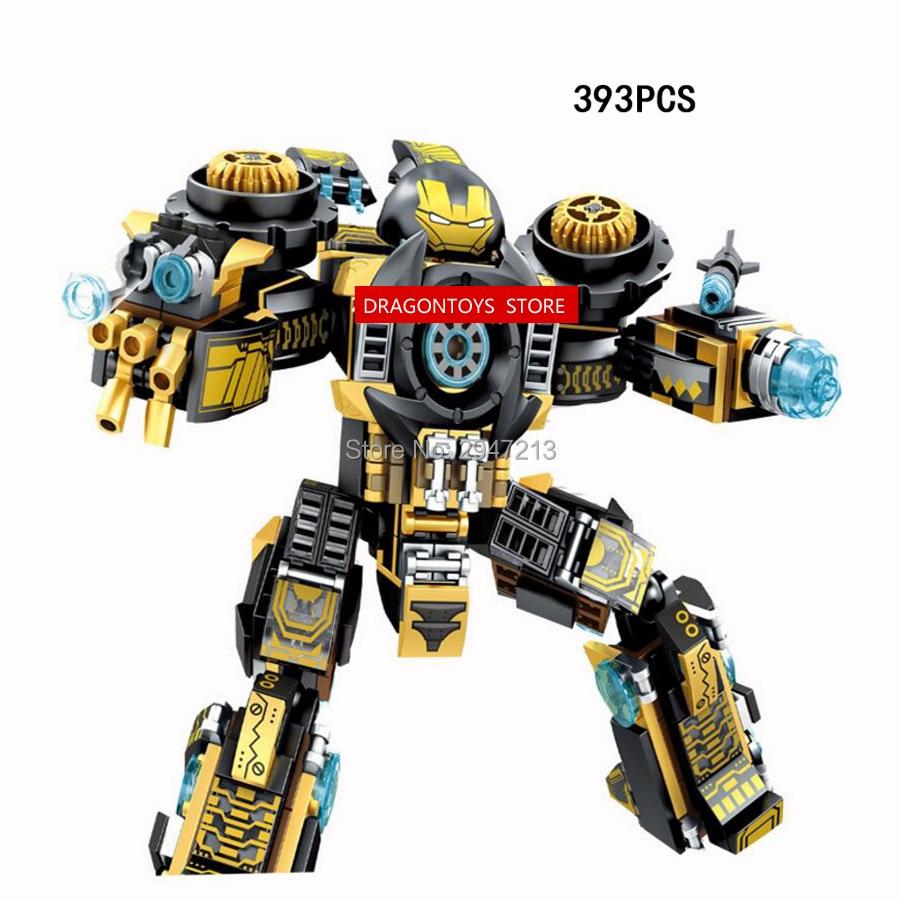 hot compatible LegoINGlys Marvel Super hero Avengers Iiron Man Armor MK23 Dragon Building Blocks Tony Stark figure brick toys<br>