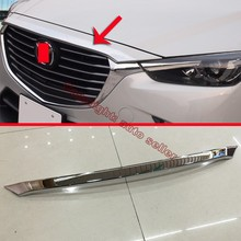 ABS Chrome Front Grille Around Hood Trim For Mazda CX-3 2015 2016 2017(China)