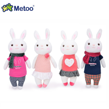 Original METOO Tiramisu rabbit dolls plush kids toys 8 style,35cm Bunny Stuffed Animal Lamy Rabbit Toy gifts with gift box(China)