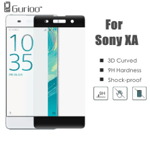 3D Curved Edge Colorful Full Cover Screen Protector For Sony Xperia X / XA / XP X PerformanceTempered Glass For Sony Xperia XA