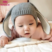 winter hats for Baby Toddler Kids Boy Girl Knitted Crochet Rabbit Ear Beanie Winter Warm Hat Cap baby photography props(China)