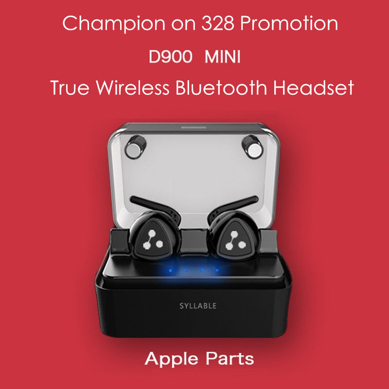 Hot Original Syllable D900S/ D900 MINI/ TWS Q800/ K2/K2 Mini Double Ear Wireless Earbuds In-ear Bluetooth Headphones With Mic<br>