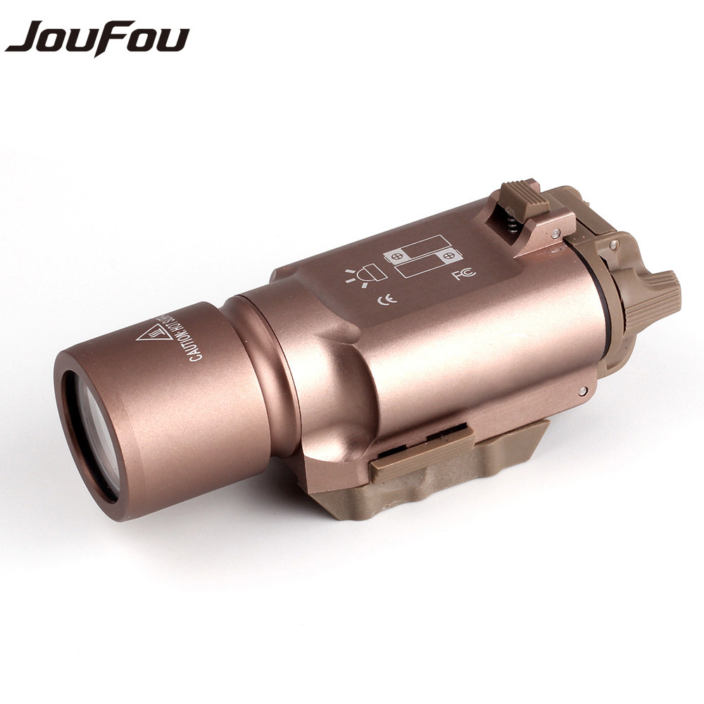 JouFou Tactical Shooting Powerful LED Flashlight  X-300 White Light 500 Lumens for Weapon Hunting Pistol M4 Rifle<br><br>Aliexpress