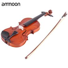 ammoon 3/4 Natural Acoustic Violin Fiddle Spruce Steel String with Case Arbor Bow Stringed Instrument for Music Lovers(China)