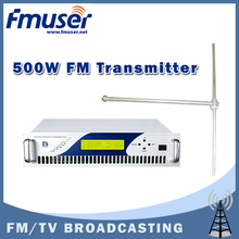 Free shipping FMUSER CZH618F-500C 500W FM transmitter Radio Broadcaster 0~500w + FU-DV1 Dipole FM Antenna + 30m 1/2'' Cable