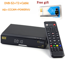 Original v8 golden+powervu IPTV box v8 golden dvb t2/s2/c upgraded V8 Pro Combo with 1 free usb wifi Freesat Satellite Receiver(China)