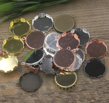 Inner:15mm,20mm,25mm 40pcs/Bag Antique Bronze/Silver/Gold Color Blank Pendant Trays Hanger,Base Setting Zakka Glass Cabochons(China)