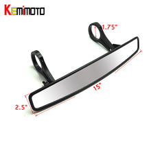 "KEMiMOTO 1.75"" Clamp 15"" UTV Wide Rear View Race Mirror for Polaris Rangers RZR800 1000 XP900 1000 S For Yamaha Rhinos For Honda"