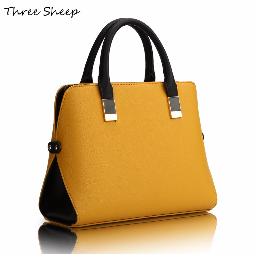 Yellow Womens Hand Bags Designers PU Famous Designer Handbags Luxury Leather Blue Black Handbag Women Elegant Sac a Main <br>
