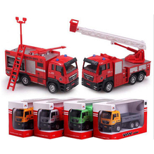 1/55 1pcs Firetruck/Deluxe Fire Truck/Garbage truck/Concrete car/Dump truck/engineering Artificial Model Cars Toys boy gift