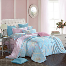 Svetanya Soft and Luxury Bedlinen Tencel Bedding Set Queen Full King Size Doona Duvet Cover Sets Geometric Print