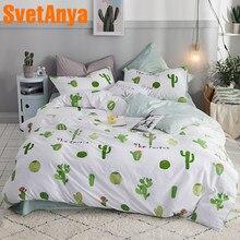 49f5933055 Svetanya Cactus Impressão Lençol Fronha Capa de Edredão Conjuntos de roupa  de Cama de Algodão Dupla