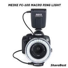 Meike FC-100 Macro Ring Flash Light for Canon EOS 650D 70D T4i T3i T3 60D 550D 600D 1100D 1200D 7D 500D