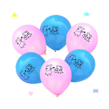 12pcs/lot George peppa pig ballon pink pig balloons cartoon ballon for children kids Happy Birthday balloon(China)