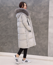 ENGAYI Brand Women Big Fur Hooded Winter Thick Warm Long Down Coat Jacket Female 90% White Duck Casual Outcoat Outerwear JM12