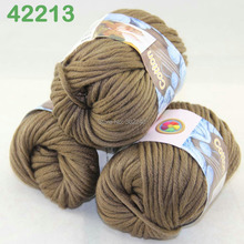 LOT of 3 Balls X 50g Special Thick Worsted Cotton Knitting Yarn Mocha 2213(China)