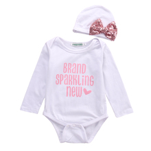 Hi Hi Baby Store UK STOCK Baby Kids RomperHats Jumpsuit Body Girls Clothes 2pcs Cotton Outfits Sets