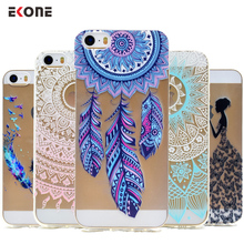 EKONE Phone cases Crystal Clear for iphone 5s case Silicon Girl For coque iphone 5 case Soft TPU cover For iphone 5s 6s 7 Plus