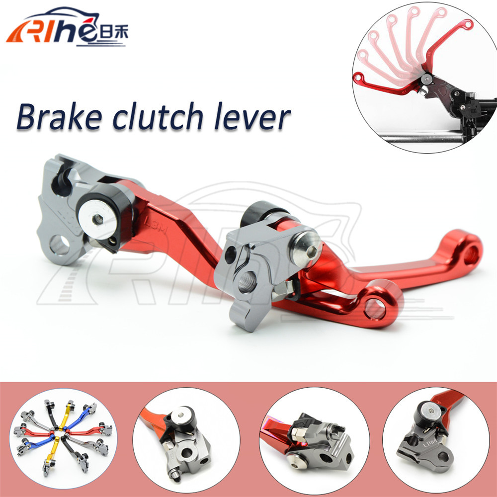 foldable dirt bike brake clutch levers red motorcycle cnc clutch brake lever FOR KAWASAKI 00 2001 2002 2003 2004 2005 2006 2007