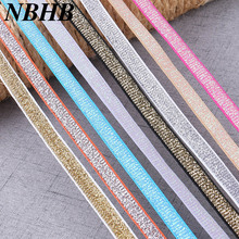 NBHB 5Yards 10mm Wide Lace Elastic Band Ribbon DIY Sewing Accessories Clothing wedding decoration lace fabric Trim Crafts(China)