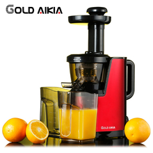 Gold Aikia Low Speed Juicer Blender Slowly Juicer Extractor Citrus Orange Carrot Sugar Cane Household Fruit Juicers GDA-850(China)