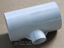 "1.5""-3/4"" T-adapter Connector, PVC Fitting, Socket for spa hot tub pipe fitting and SPA plastic pvc tee(China)"