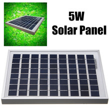 5W 12V PolyCrystalline Solar Cells Solar Panel Module Battery Charger For Caravan Boat Power Applied To DC LED lights Battery